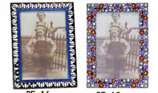 Double portafoto con pietre preziose