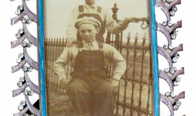 Portafoto con swarosky e acciaio
