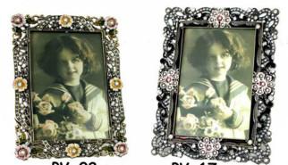 Portafoto con fiori di swarosky