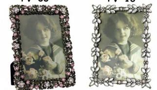 Portafoto con margherite di perle