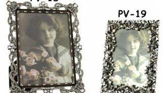 Portafoto a fiori e perle
