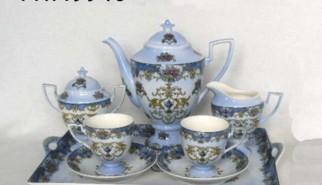servizio da caffe in porcellana blu